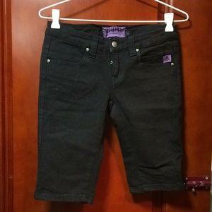 Tripp NYC Black Denim Shorts